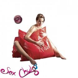 Federa cuscino laccata rossa