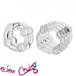 Anello per pene COLT ENHANCER RINGS CLEAR''