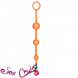 PLUG ANALE FUNKY BUTT BEADS ORANGE
