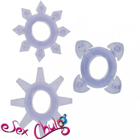 ANELLO FALLICO TICKLE C-RINGS PURPLE