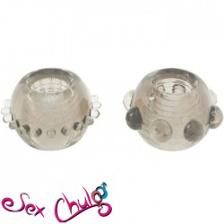 Anelli per pene POWER STRETCHY RINGS SMOKE 2PCS''