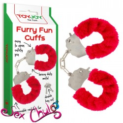 Manette Peluche Rosse FURRY FUN CUFFS RED PLUSH