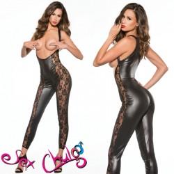 Tuta Sexy Nera Misura Unica S-L