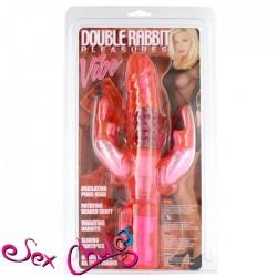 Vibratore Rabbit DOUBLE RABBIT PLEASURES VIBE PK